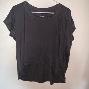 Express T-shirt cropped front long in back